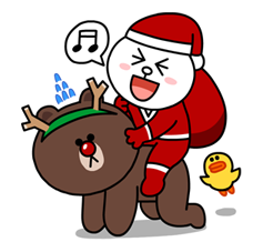 line-christmas-sticker